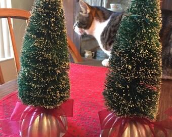 9 1/2 Inch bottle brush sisal Christmas trees