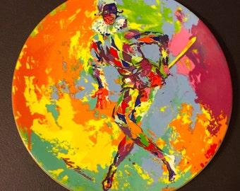 ONSALE!! Leroy Neiman Plate Harlequin Vintage 1974