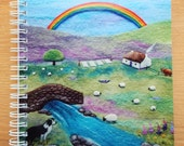 Rainbow Cottage Farm Notebook with Printed Cover