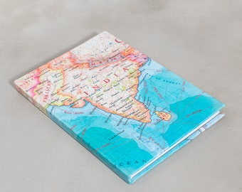 Map of india travel journal - Globetrotters gift - Map notebook - map of india journal - india map - india sketchbook - indian ocean map