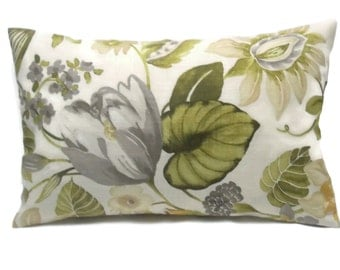 Decorative Pillow Cover Sage Green Blue Taupe By