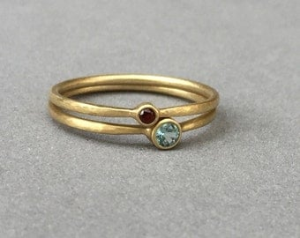 tiny garnet engagement wedding ring simple yellow gold wedding ring modern ring simple feminine eclectic wedding ring