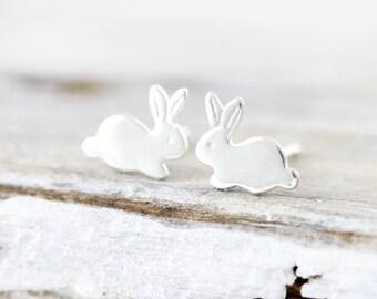 Bunny earrings - sterling silver studs