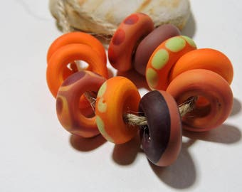 Lampwork Artisan Beads SALSA Two Sisters Designs 032817BA