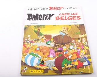 Asterix, Chez les Belges, French, Comics, Illustrated, Vintage, Children's Book ~ The Pink Room ~ 160921A