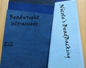 Ultrasuede with Free Nicoles BeadBacking Shades of Blue Suede Backing E12