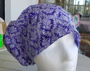Lavender Lace  Hattie Style...............Surgical Hat....Bakers Hat