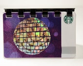 Starbucks HOLIDAY Gift Card Notebook   --- Disco Ball 2016