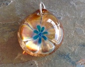 2 Cremation Lily Pendants with Ladybugs