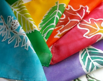 Waldorf Daily Rhythm Flags: Hand Painted Silks with Color and Tree for Each Day of the Week