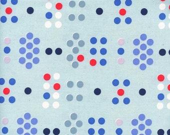 Cotton + Steel S.S. Bluebird - morse code - blue - fat quarter