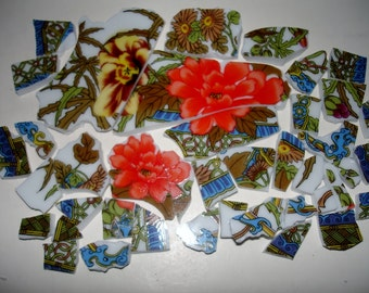 Mosaic Pieces-  OrientalPieces- Mosaic Tile Pieces- Broken Plate Pieces