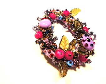 "Fantasy collection, ""Corall"" brooch, Couture jewellery by Monikque"