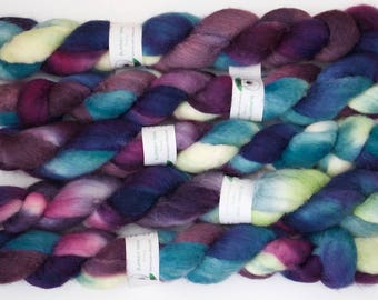 Handpainted Bluefaced Leicester Wool Roving in Pop Art by Blarney Yarn