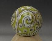 ON SALE Handmade Lampwork Glass Scroll Marble Handmade by Jason Powers SRA