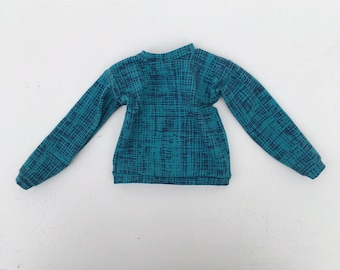 sweater blue printed