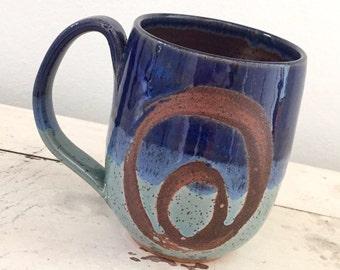 Moonrise mug, coffee mug, tea cup, handmade pottery mug