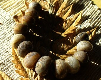 SRA Lampwork  Handmade Glass Beads by Catalinaglass Mocha