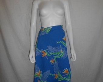 SALE Vintage skirt dress sarong   wrap around    long    Cotton     Hawaii Hawaiian