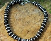 RESERVED FOR KIM Ebony Wood Trade Bead Choker Necklace