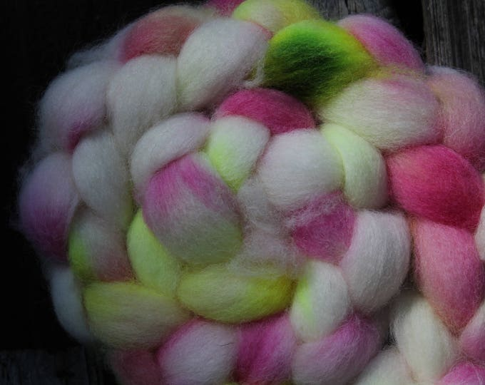 Kettle Dyed Cheviot Wool Top.  Easy to spin. 4oz  Braid. Spin. Felt. Roving. C200