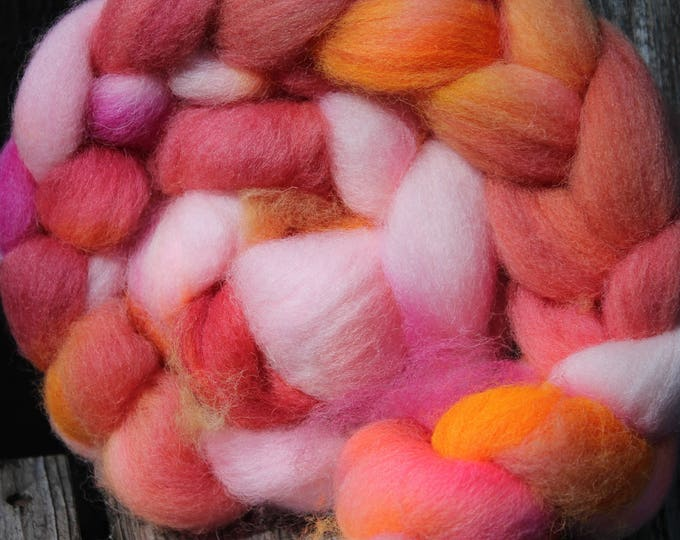 Kettle Dyed Cheviot Wool Top.  Easy to spin. 4oz  Braid. Spin. Felt. Roving. C206