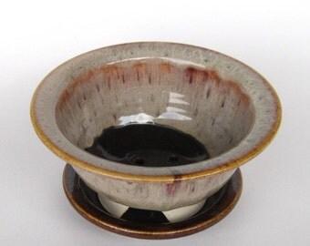 Berry Bowl - two piece - Mocha Madness Glaze