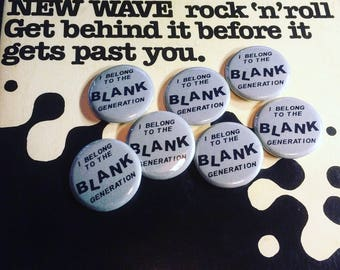 "Richard Hell Blank Generation 1.25"" Pinback Button"