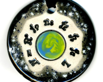 Drake Equation Ceramic Necklace in Black and Gray