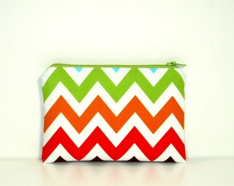 Small Zippered Notions Pouch - Remix Chevron