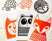 3x Screen prints by Jane Foster  -  choose any three for a special price!