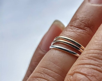 Simply Skinny Stacking Fingertip Rings - Set of Three