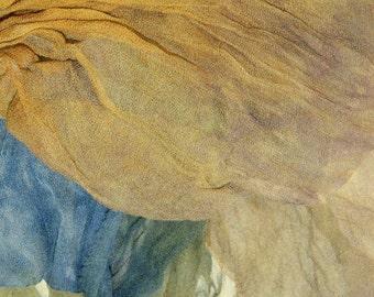 Turbulent in  Hand Dyed Silk Gauze  for Nuno Felting