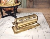 Free Shipping Brass Perpetual Desk Calendar changing calendar side dials Free Shipping