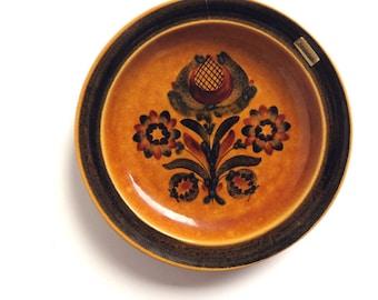 Vintage Decorative Plate for Hanging, Swiss Handpainted Ceramic Dish, Floral Folk art painted Wallhanging, Bijouterie Baumann Langenthal