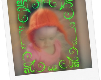 Pattern - Pumpkin Hat with Earflaps Pattern Instant Download