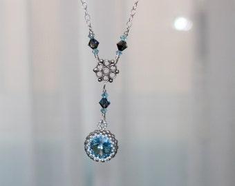 Swarovski Rivoli Pendant Sterling Silver Necklace