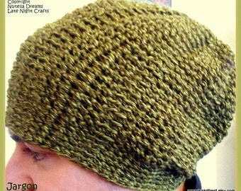 Instant Etsy Download PATTERN - Slouchy Crochet Unisex Beanie - Awesome Texture - One Piece Construction - Adults and Teens