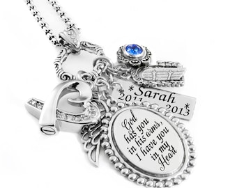 Engraved Memorial Necklace, Loss of Loved one, Crystal Heart Urn, Loss of Child, Mom, Dad, Brother, Sister
