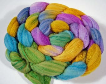 Wool Top - Organic Polwarth and silk (80/20) blend- FIBER 29