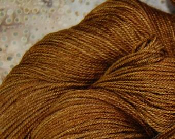 """MYS 622 """"Chocolate """" -400 yards 100 grams 60/20/20 -superwash merino,yak, silk yarn"""