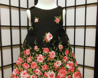 Scattered Roses Reversible Wrap Dress 18m 24m 2T