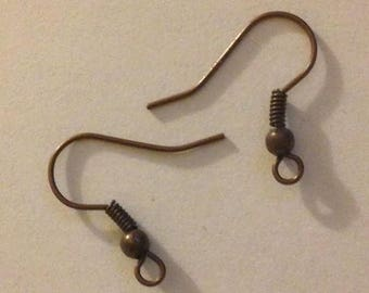 40 Pairs of Brass Ear Wires