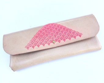 Leather Sunglasses Case Hot Pink