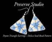 Peyote Triangle Delica Seed Bead Pattern, Peyote Earring Pattern, Beading Pattern, DIY Earrings, Peyote Stitch