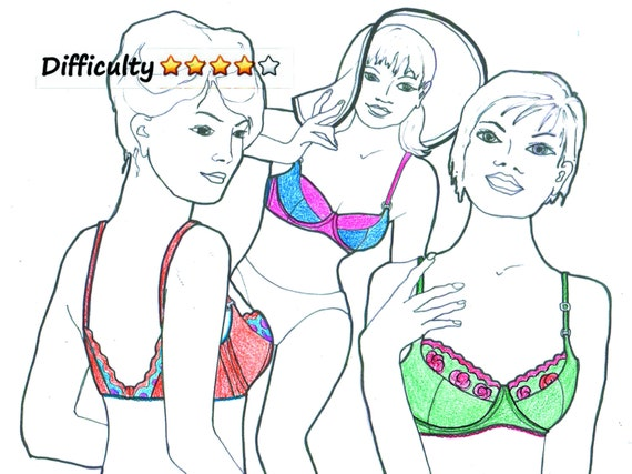 DOWNLOAD Lingerie Pattern WINGS Underwired Bra by Merckwaerdigh