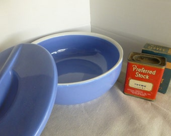 Periwinkle Blue Hall Covered Dish Montgomery Ward Exclusive
