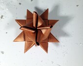 Handmade Froebel Star / Moravian Star / Christmas Star / Christmas Tree Ornament / Origami Star / Paper Star - copper metallic - small