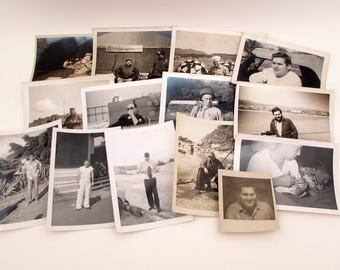 Vintage Men in Uniform - 14 Vintage Photos - Sailors - 1950s - Military Photos - Navy - Military Ephemera