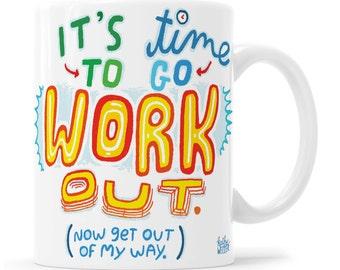 Exercise Mug Crossfit Gift Kettlebell Weightlifting Gift Workout Mug Workout Gift Crossfit Kettlebell Mug Personal Trainer Gift Crossfit Mug
